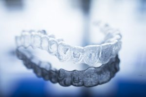 Clear Braces displayed on a reflective surface